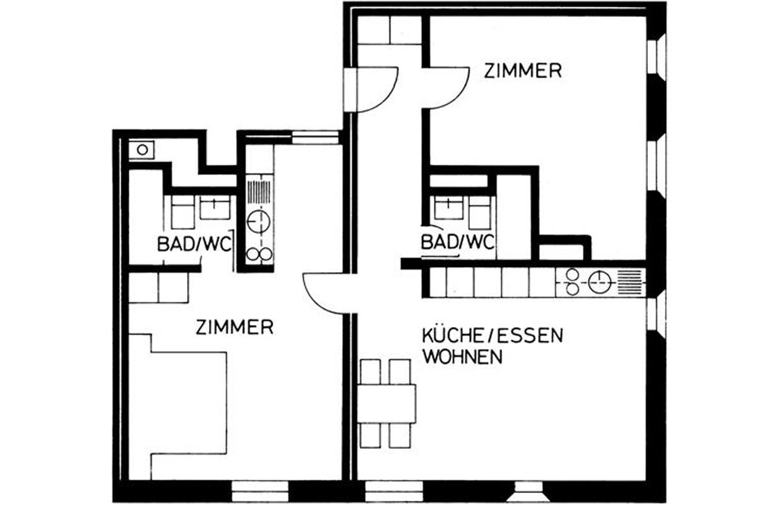 3 zimmer hotel in arosa for 3 zimmer wohnung delmenhorst